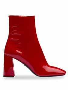 Prada square-toe boots - Red