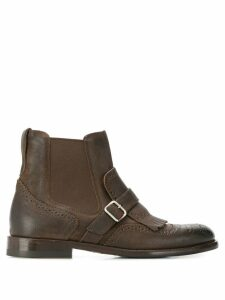 Henderson Baracco brogue detail ankle boots - Brown
