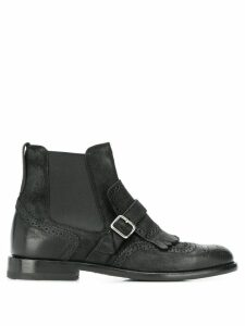 Henderson Baracco brogue detail ankle boots - Black