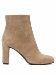 Del Carlo block heel ankle boots - NEUTRALS