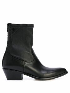 RtA ankle zipped boots - Black