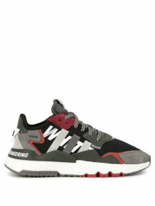 White Mountaineering colour block panelled sneakers - Black