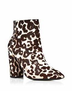 Charles David Women's Snow Leopard Block Heel Boots