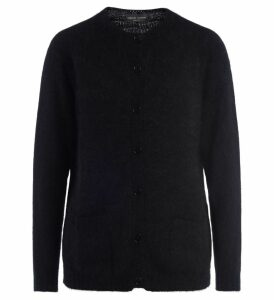 Black Roberto Collina Sweater With Front Buttons