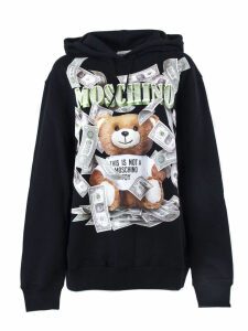 Moschino Black Cotton Jersey Sweatshirt