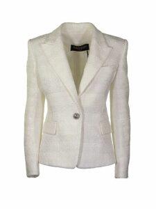 Balmain White Jacket With Buttons Blazer