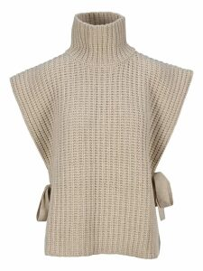 See By Chloe Sleeveless Turtleneck Knitted Top