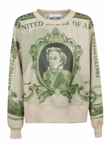 Patterned Technical Fabric Sweatshirt