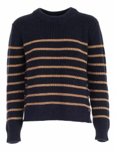 TwinSet Sweater L/s Crew Neck W/lurex Stripes