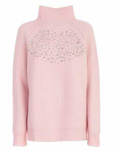 Be Blumarine Sweater L/s High Neck W/ribs