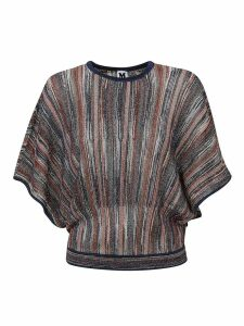 Multicolor Striped Lurex T-shirt