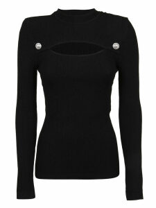 Balmain Ls Cutout Knit Top