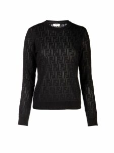 Fendi Fendi Jacquard Knit Ff Sweater