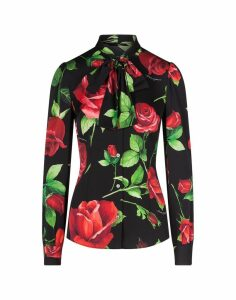Dolce & Gabbana Print Rose Shirt Long Sleeves