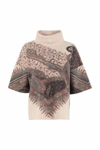 Etro Cashmere-wool Poncho Sweater