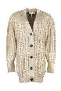 MSGM Cotton Tricot Knit Cardigan