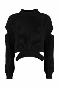Pinko Scozzese Ribbed Wool Sweater