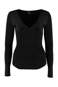 Pinko Ecco Ribbed Knit Top