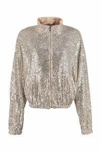 Pinko Derby Sequin Full-zip Sweatshirt
