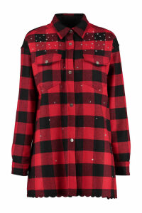 Pinko Plasmare Embellished Checked Overshirt