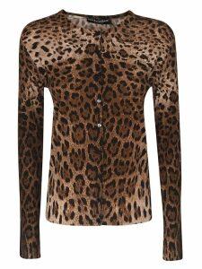Dolce & Gabbana Leopard Buttoned Cardigan