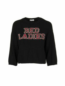RED Valentino red Ladies Intarsia Angora Jumper