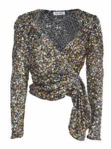 The Attico Multicolor Sequins Top