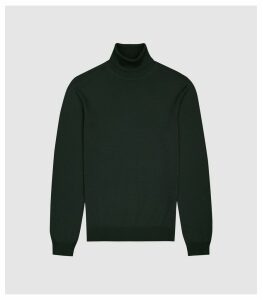 Reiss Caine - Merino Wool Rollneck in Forest Green, Mens, Size XXL