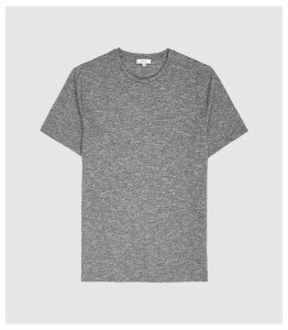 Reiss Blane - Melange Cotton Blend T-shirt in Grey, Mens, Size XXL