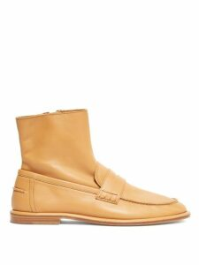 Loewe - Leather Loafer Boots - Womens - Tan