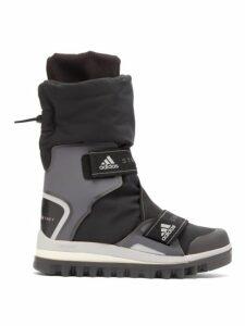 Adidas By Stella Mccartney - Technical Logo Jacquard Boots - Womens - Black