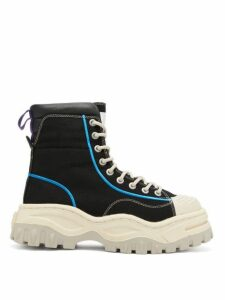 Eytys - Akira High-top Canvas Trainers - Womens - Black White
