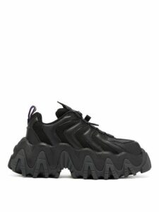 Eytys - Halo Chunky Sole Leather Trainers - Womens - Black