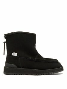 Suicoke - Russ Mwpab Shearling Lined Suede Boots - Womens - Black