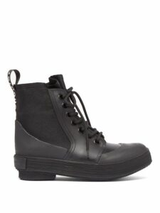 Proenza Schouler - Lace-up Rubber And Canvas Boots - Womens - Black