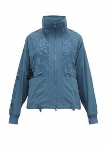 Adidas By Stella Mccartney - Logo-print Performance Track Jacket - Womens - Blue
