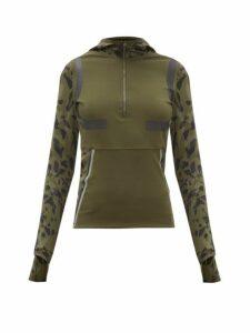 Adidas By Stella Mccartney - Hooded Half-zip Running Jacket - Womens - Khaki