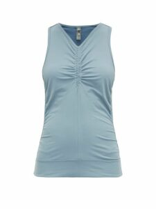 Adidas By Stella Mccartney - Comfort Racerback Tank Top - Womens - Blue