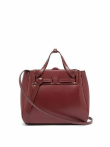 Loewe - Lazo Mini Leather Tote Bag - Womens - Burgundy
