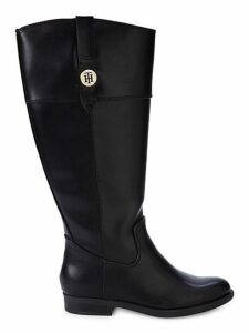 Faux Leather Mid-Calf Boots