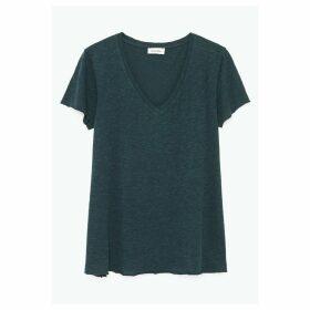 Kobibay Cotton Mix T-Shirt with V-Neck