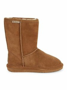 Emma Wide-Width Shearling-Lined Suede Short Boots