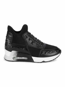 Laser Studded Slip-On Sneakers