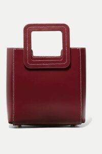 STAUD - Shirley Mini Leather Tote - Burgundy