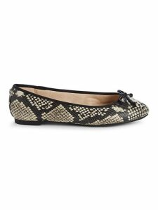 Charlotte Embossed Faux Leather Flats