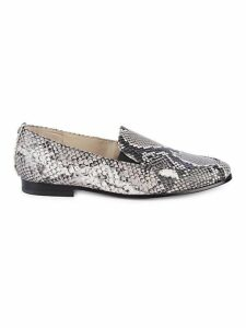 Lanti Snakeskin Print Leather Loafers