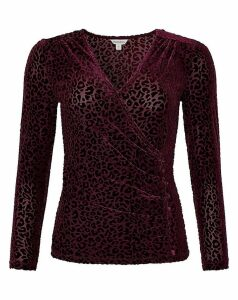 Monsoon Kylie Leopard Velvet Devore Top