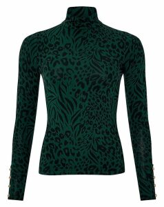 Monsoon Andora Animal Polo Jersey Top