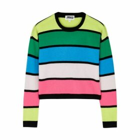 THREADS OF PRVLG Striped Cashmere Jumper