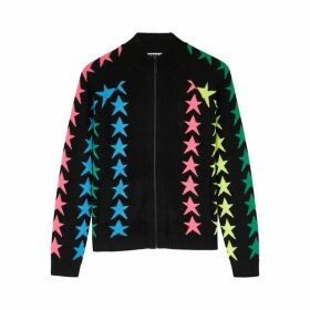 THREADS OF PRVLG Black Star-intarsia Cashmere Cardigan